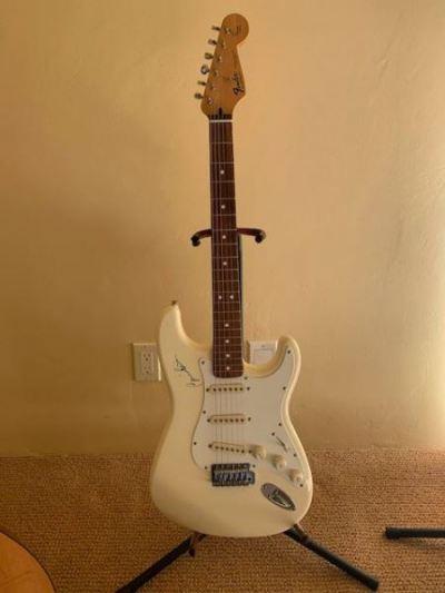 Signed Bonnie Raitt Fender Guitar--SOLD