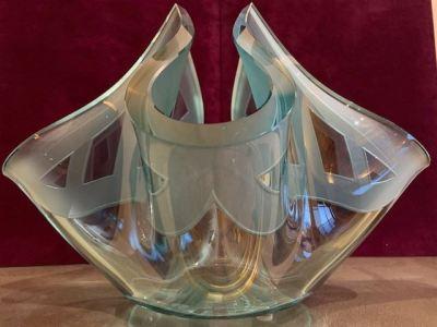 John Lewis sculptural glass vase - SOLD
