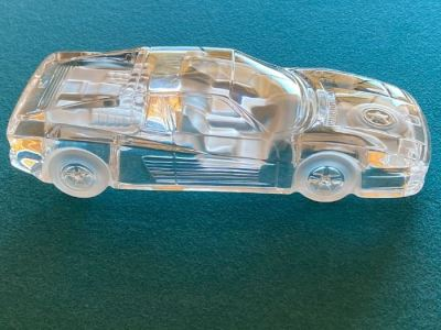 Anolfo Cambio signed art glass race car