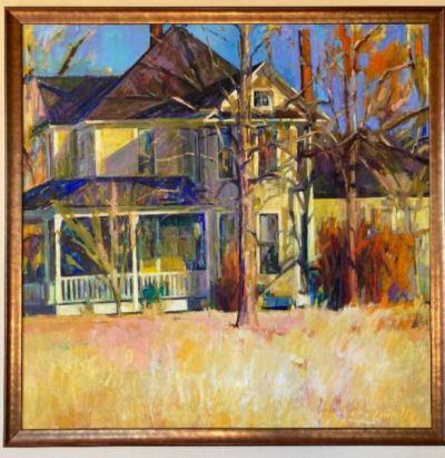 "Richard Fennell oil on canvas, 52"" x 52"""