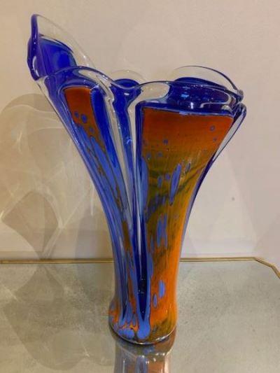 Richard Royal massive art glass floor vase
