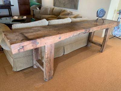 Rustic Wood Sofa Table--SOLD