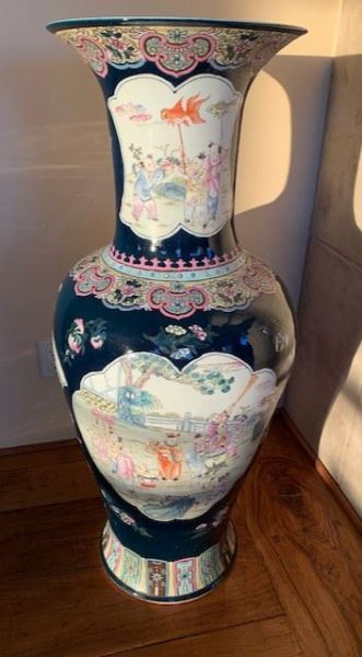 one of pair of Chinese floor vases
