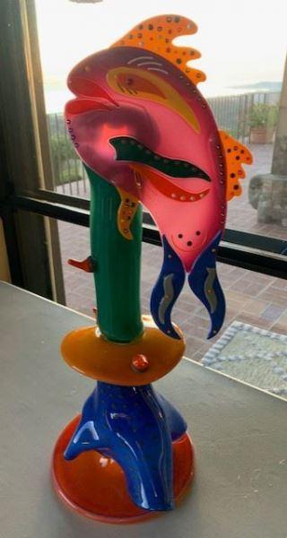 Glass Fish Sculpture by James Van Deurzen - SOLD