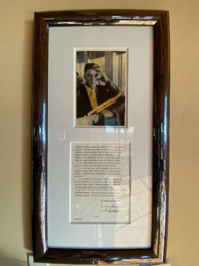 Elvis Presley signed contract with photo--SOLD