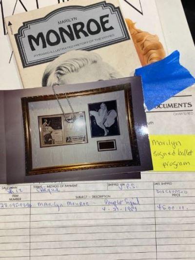 Monroe certificate - SOLD