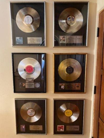 Framed record sales awards
