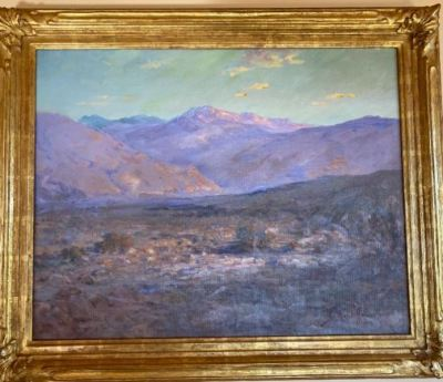 """""""Near Palm Springs"""" Oil on Canvas by J. Bond Francisco--SOLD"""