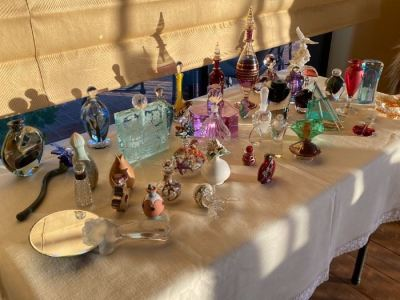 Art glass perfume bottles collection