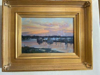 """Dusk, Skull Creek"" Oil by Michael B. Karas - SOLD"