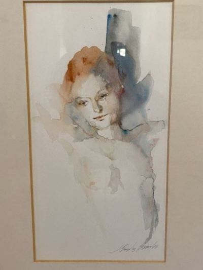 signed watercolor