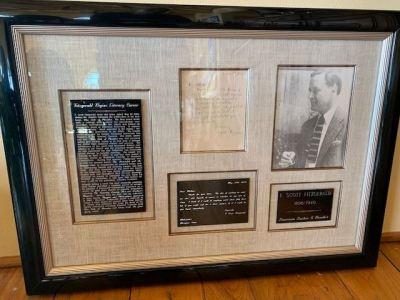 F. Scott Fitzgerald framed memorabilia -SOLD