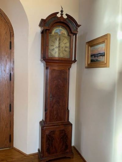 Mahogany Grandfather Clock, John Halliwell, England 1790-1820