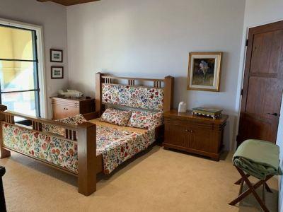 Guest Bedroom ~ Mission Style King Bedframe  ~ Side Tables - SOLD