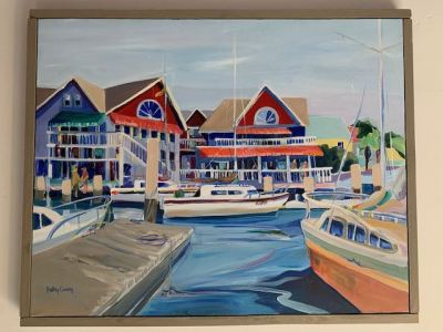 """Oil, """"Marina"""" by Kathy Curry"""
