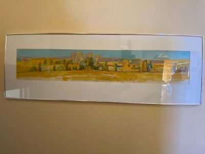 """""""Long and Narrow Landscape Under Glass """" Oil on Canvas by Richard Fennell--SOLD"""