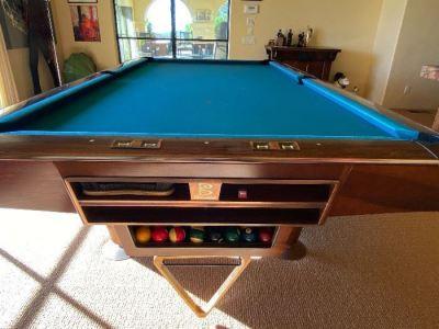 vintage BRUNSWICK billiards table - SOLD