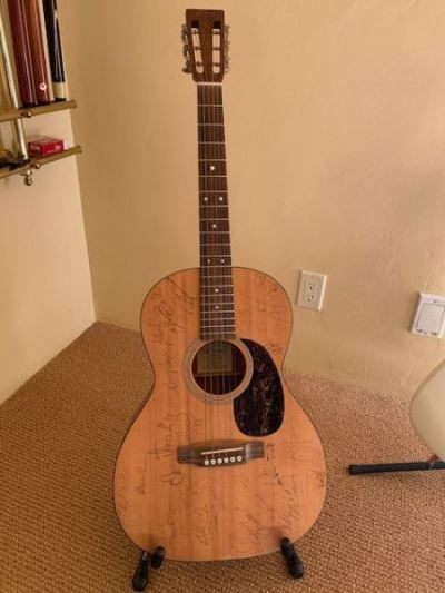"""Signed """"Down From The Mountain"""" guitar from """"Brother Where Art Thou""""--SOLD"""