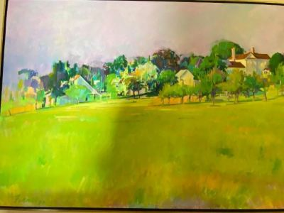 """Richard Fennell oil on canvas, 48"""" x 96""""--SOLD"""