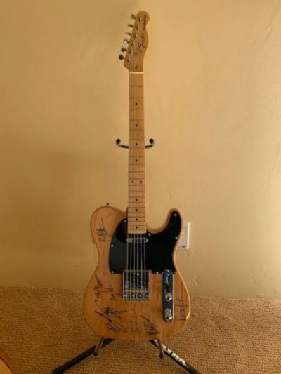 Signed Bruce Springsteen Fender Guitar--SOLD
