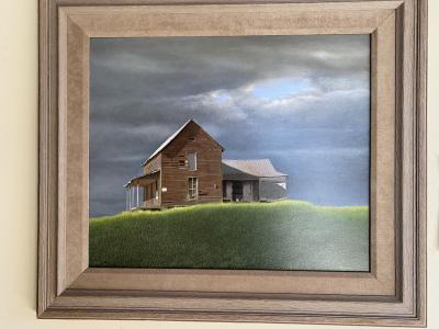 """Oil, """"Near Morrisville"""" by William Tilton"""