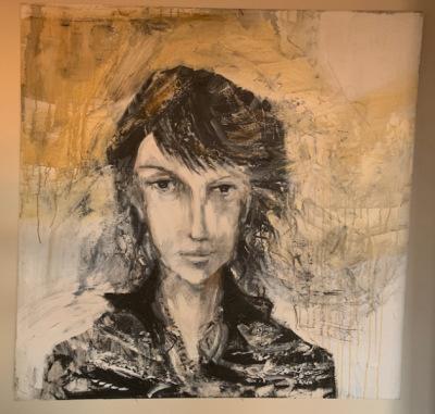 Rock Star? oil portrait--SOLD