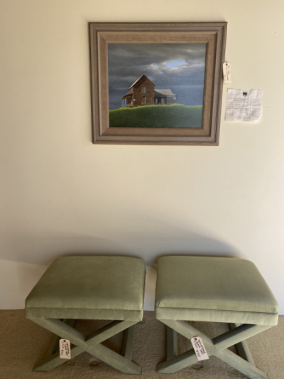 Pair of Ottomans  by A. Rudin