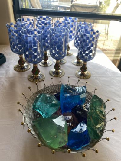 MacKenzie Childs Glassware--SOLD