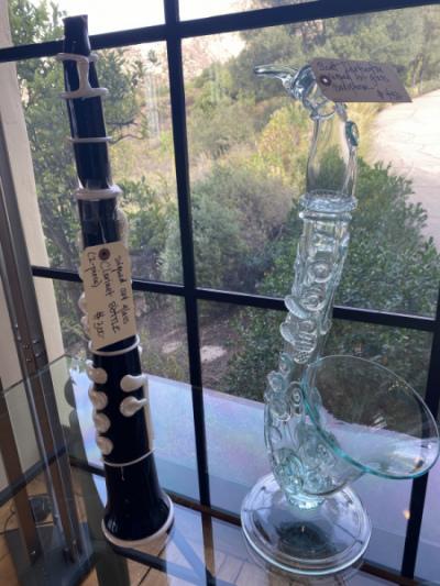 Art Glass: Saxaphone and Clainet