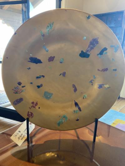 Confetti Art Glass on Stand