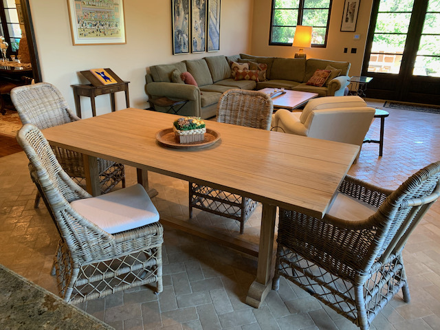 Botanic Dining Table ~Rooms & Gardens Wicker Chairs