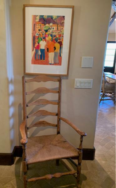 Ladderback Chair w/Rush Seat