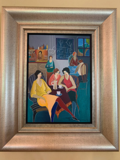 """Ladies Social"" by Itsak Tarkay"