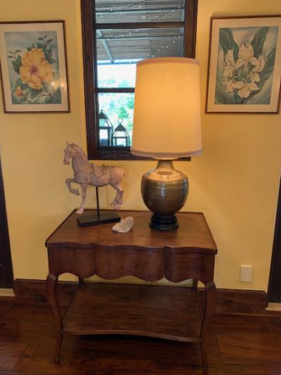 Walnut Shelf Table w/Drawer