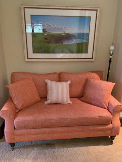 Loveseat with Down Cushions