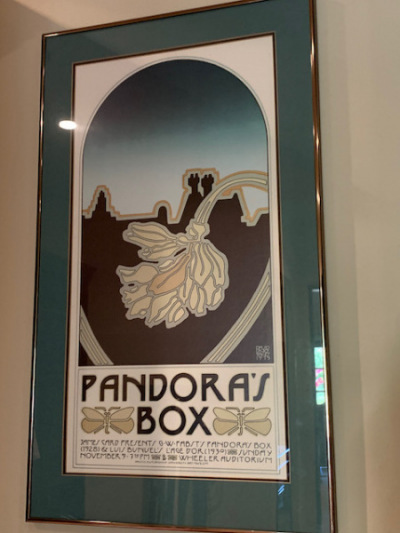 "David Lance Goines Print ""Pandora's Box"""