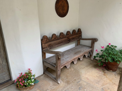 Carved Mexican Bench (1 of 2)