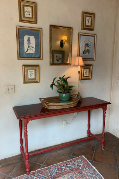 Red Painted Table