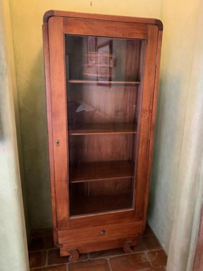 Balinese Wood/Glass Display Cabinet