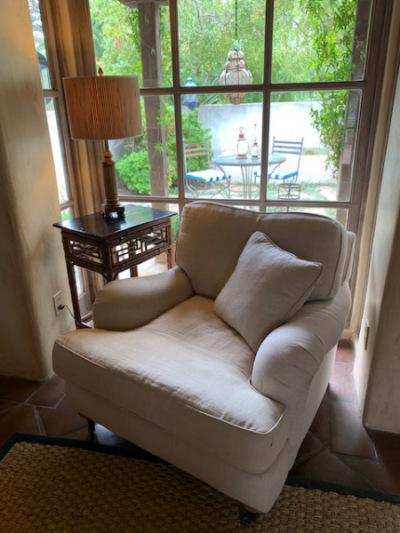 Restoration Hardware Belgian Linen Club Chair