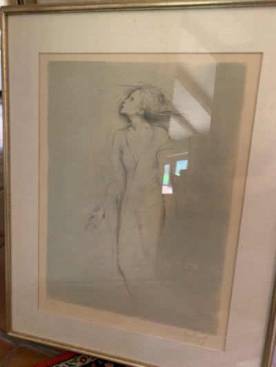 "Framed ""Lady"" Print"