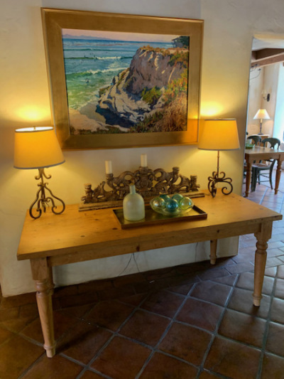 Pine Table ~ Iron Table Lamps