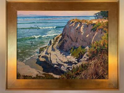 "Oil by John Comer ""Paradise Point - Santa Cruz"