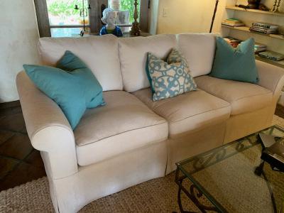 Custom Sheared Chenille Sofa (1 of 2)