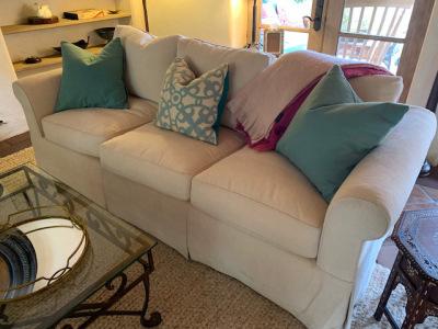 Custom Sheared Chenille Sofa (2 of 2)