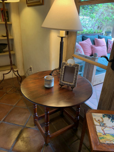 Mahogany Round Occasional Table