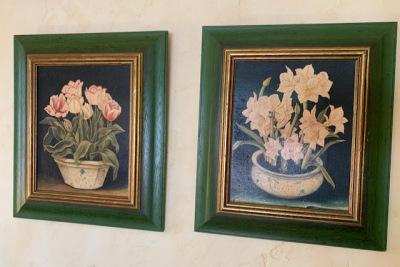 Pr. Framed Florals