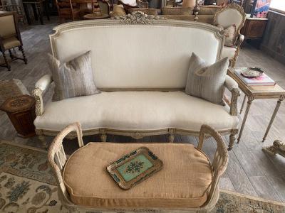 Carved Frame Sofa - Louis XVI Revival