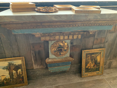 Wall Hung Console with Faux Marble Top