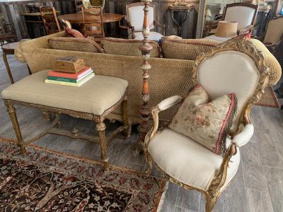 Upholstered High Bench